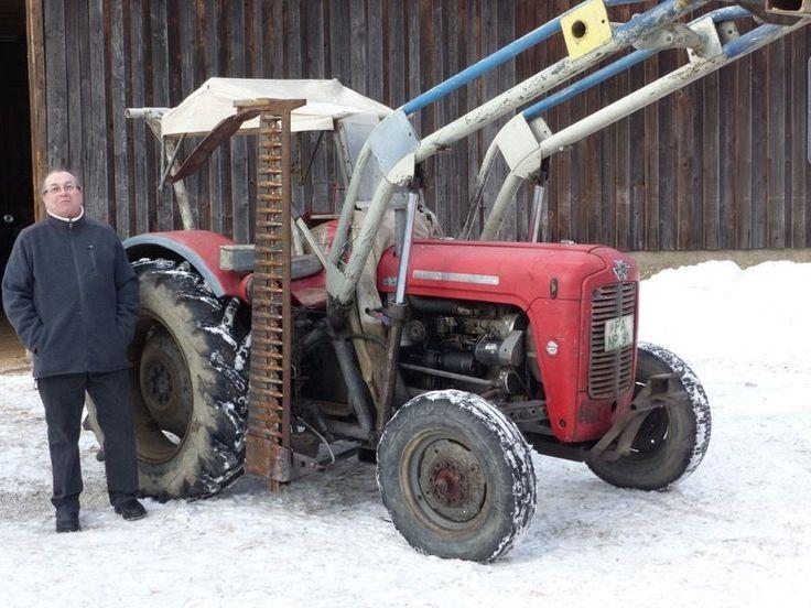 Massey Ferguson MF 35 mit Frontlader und Mähbalken Mähwerk Traktor 3 Zyl Perkins   eBay
