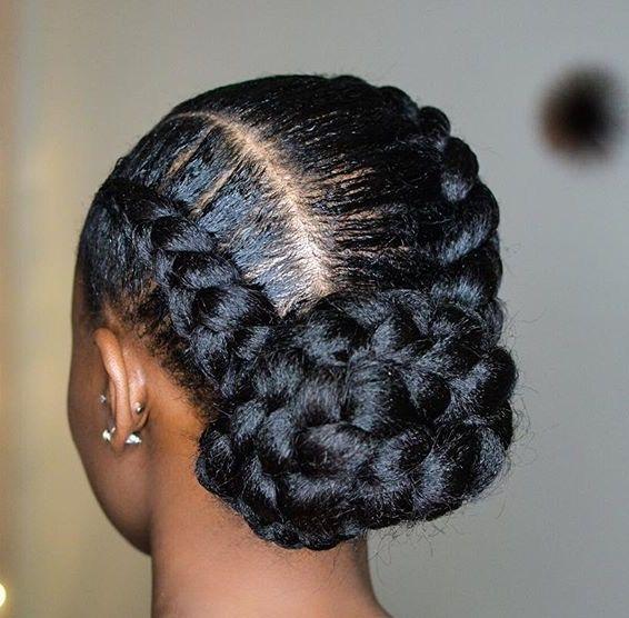 Bulky Hair Braid Cornrow Hairstyles Natural Hair Styles Hair Styles