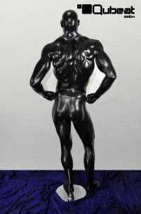 #Schaufensterpuppe #Mannequin #gesichtslos #faceless #schwarz #stehend #männlich #glänzend #Bodybuilder #Muskeln