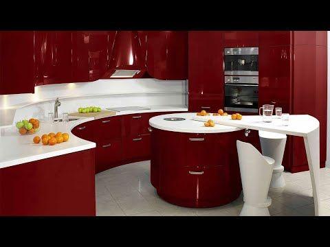 صور مطابخ عالمية وصور ديكور للمطبخ العصري اشكال مطابخ خشب والوميتال باحدث الوان مطابخ 2018 Kitchen Decor Modern Red Kitchen Cabinets Kitchen Design Decor