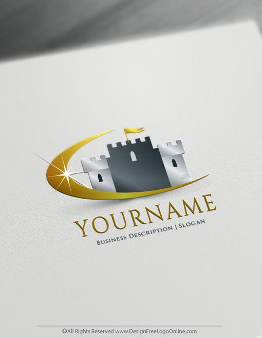 Online Free Logo Maker Royal Castle Logo Design In 2020 Business Logo Branding Logo Design Software Logo Design