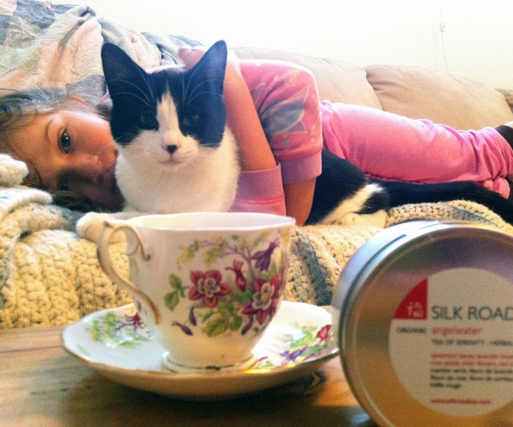 Serene moments with my angels enjoying a lazy morning with Angelwater tea. - Photo taken by Jennifer