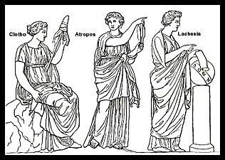 "Greek Mythology: ""The Moirae"" (""The Three Fates"