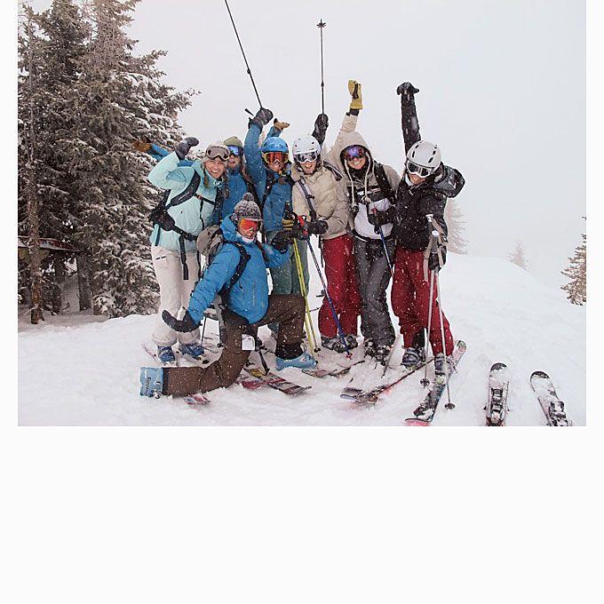 Brides.com: Alternative Bachelorette Party Ideas. Girlfriends' Tradition Ski Weekend