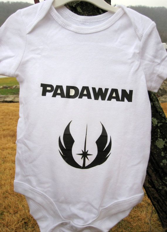 Hey, I found this really awesome Etsy listing at https://www.etsy.com/listing/91572104/star-wars-padawan-onesie
