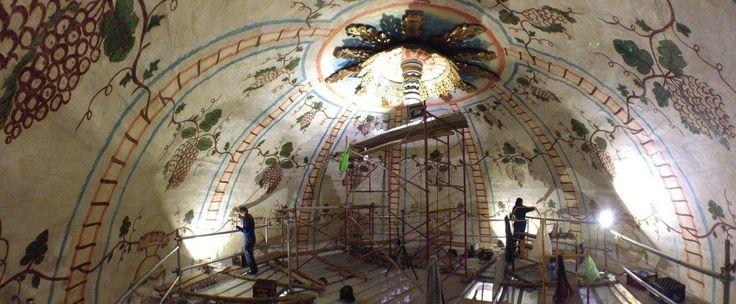 Basílica de Mongui, Boyacá Colombia, restauración cúpula