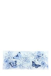 DECAL FLORAL GLASS PLATE