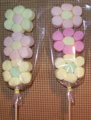 Resultado de imagen para centros de mesa para baby shower con marshmallows