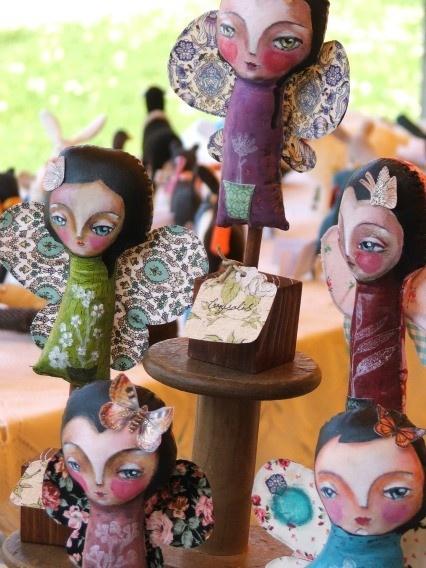Chrysalis Art doll - original art mixed media cloth doll