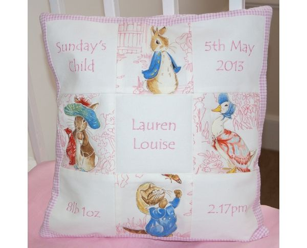 Pastel Pink Memory Cushion from Tuppenny House Designs