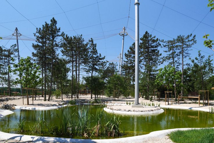 TROUGH WALK AVIARY / Location: Zoo Veszprém / Veszprém H-8200 Hungary / Planning: 2012 / Completed: 2015 / Project area: 5000 sqm open air area + two additional bird-houses ( 650 sqm)