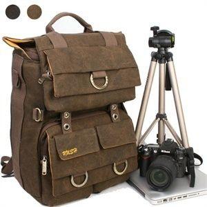 DSLR Camera Backpack Laptop computer canvas bag