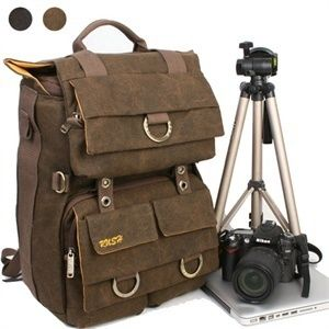 DSLR Camera Backpack Laptop computer canvas bag