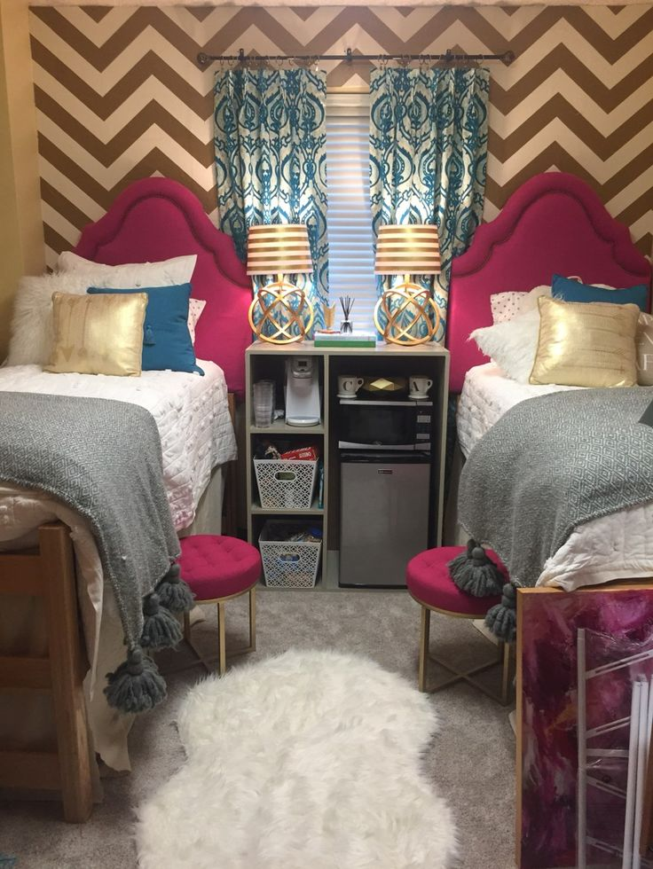 Chic gold ole miss dorm rooms!