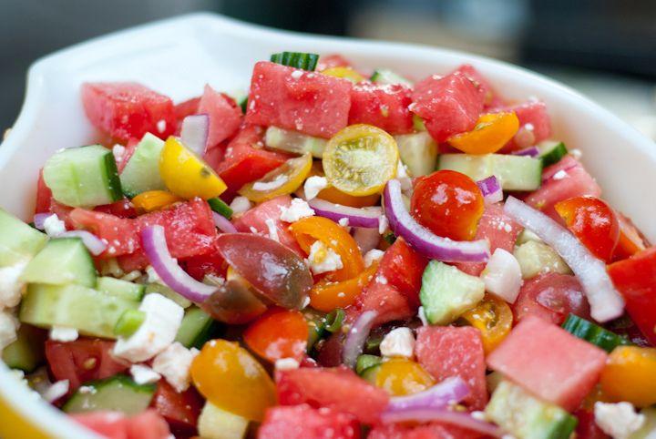 Pure Summer: Watermelon, Tomato, Feta Salad