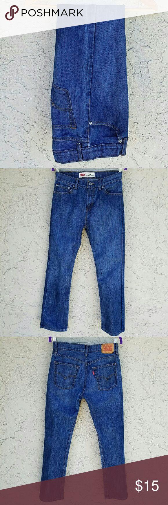 Levi's 514 Slim Straight Blue Jeans. Levi's 514 Slim Straight Darkwash Blue Jeans. EUC  514 18Reg  Waist 29in  Length 29in  Made of 54% Cotton, 46% Polyester Levi's Jeans Slim Straight