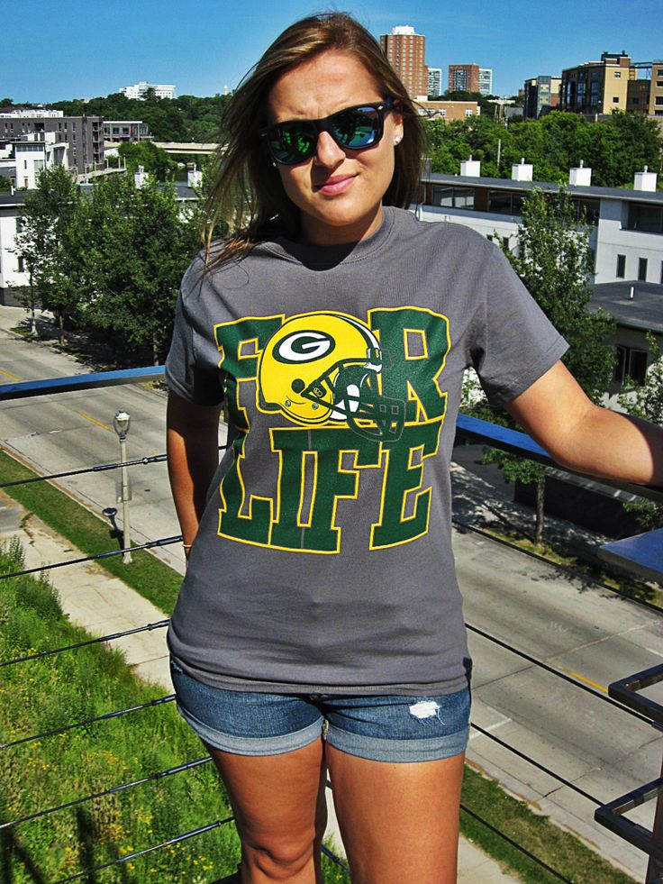Packers+for+Life++Green+Bay+Packers+Tshirt++by+CandleSupplyCompany,+$24.00