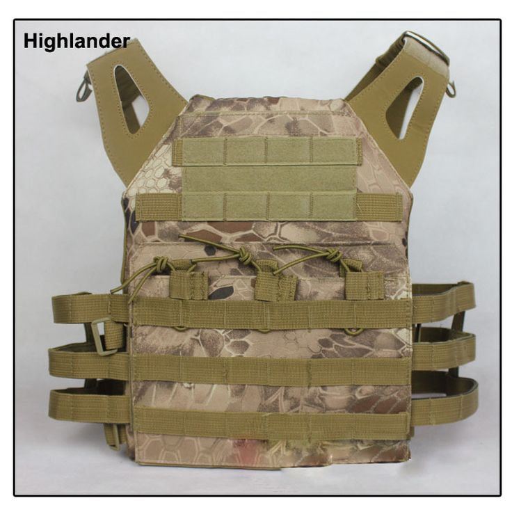 Highlander MOLLE vest carrier Airsoft vest carrier Paintball harness Molle Tactical vest with EVA inserts plates