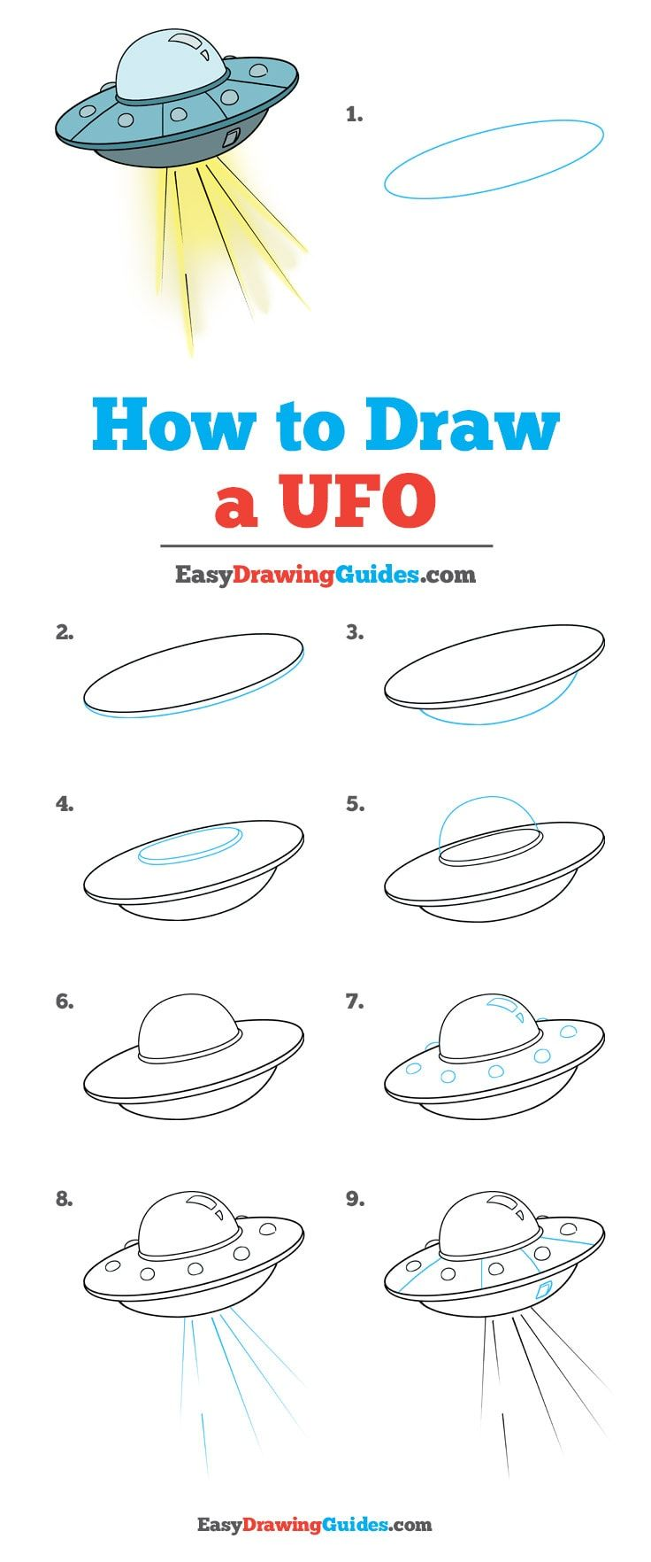 How to Draw a UFO - Really Easy Drawing Tutorial | Res ...