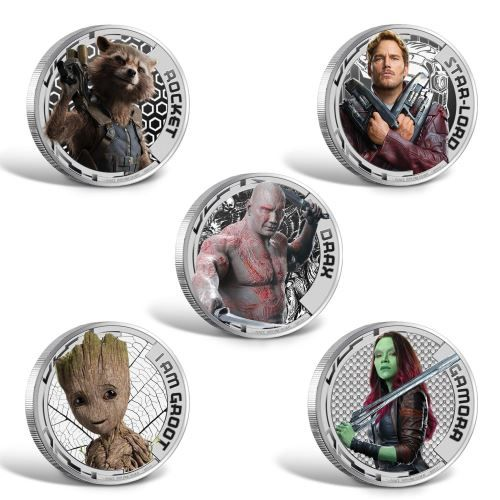 Guardians of the Galaxy Volume 2 2017 1/2oz Silver Proof Collection | The Perth Mint
