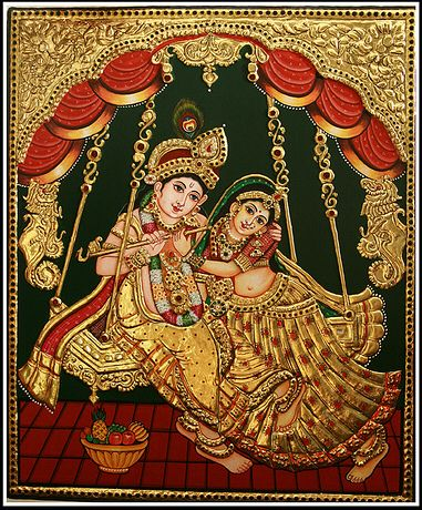 Image from http://thanjai.org/wp-content/uploads/2012/08/tanjore_painting1.jpg.