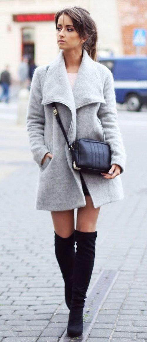 coat / coat - NEW LOOK | sweater / jumper - H & M | Skirt / Skirt - XSTRIT FASHION | handbag / bag - ZARA