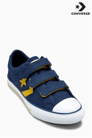 Navy/Yellow Converse Star Player 3 Strap Velcro