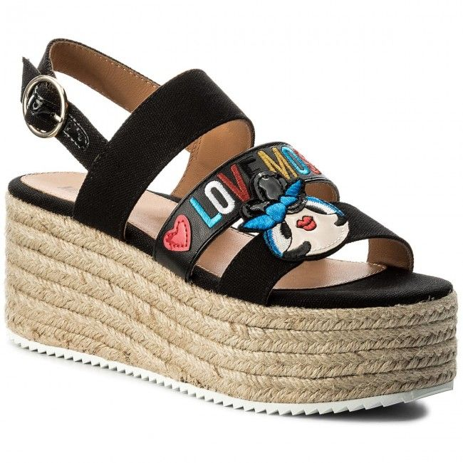 Espadryle LOVE MOSCHINO - JA16117I15IE0000 Nero