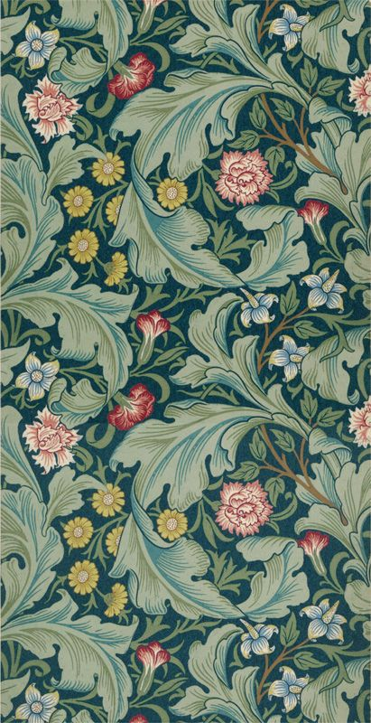 Tapet 81465: Leicester Woad/Sage från William Morris & Co - Tapetorama