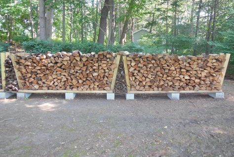 Building a no-tools-needed firewood rack  A stable, strong, easily-movable, cheap firewood rack is a thought-provoking project.