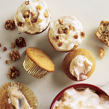 Walnut Cupcakes with Maple Frosting by Cooking Light | American ...