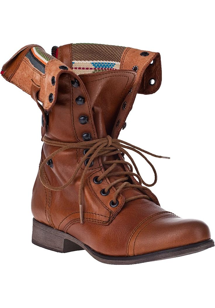 Steve Madden Shoes - Camarro Lace-Up Boot Tan Leather