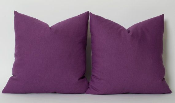 Purple Linen Pillow Cover CUSTOM SIZES Solid Purple Pillow Throw Pillow Modern Purple Pillow Minimalist Decor Sofa Couch Pillows