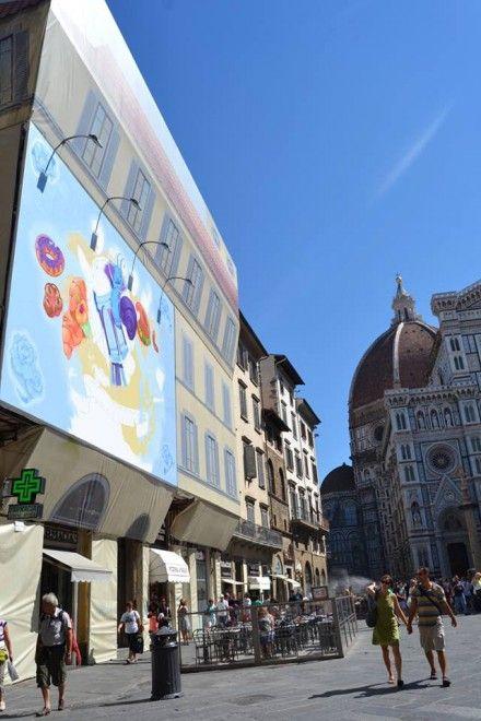 #streetart in #piazzaduomo a #firenze