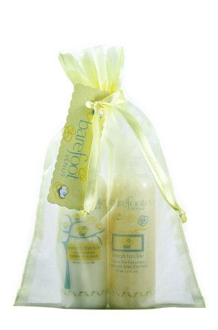 2 oz lotion & moisturizing wash. Wrapped & ready to give, in fragrance matched sachet.