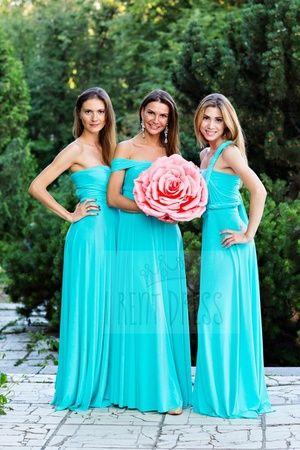 бирюзовое платье подружки невесты фото
