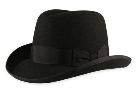 Homburg - Black Wool