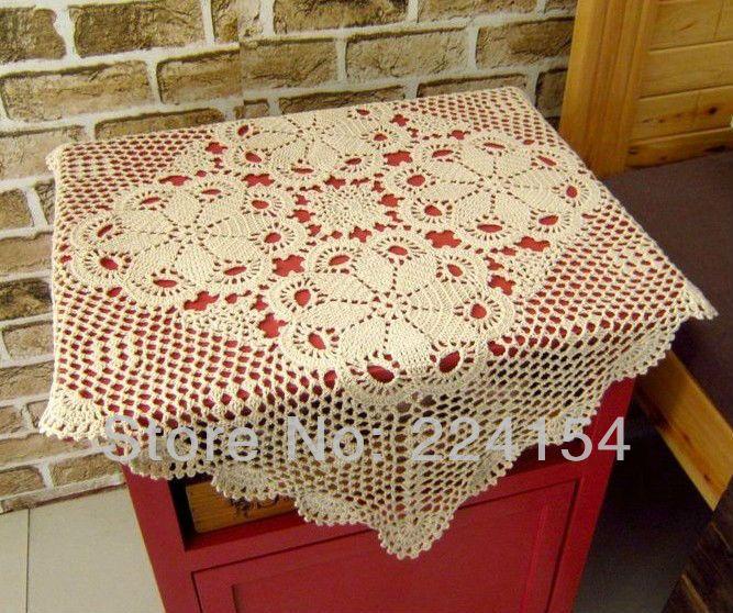 Aliexpress.com : Buy 60x60 CM Square Crochet Beige Tablecloth Cabinet Cover  Sofa Cover Vintage