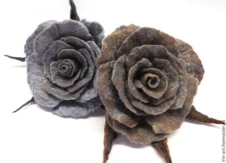 Купить брошь Сумерки - серый, серо-коричневый, Сумерки, оригинальный подарок, романтический стиль