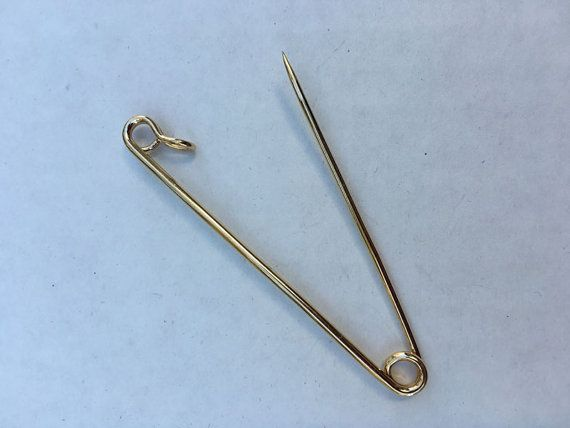 Very Cool Large 14kt Gold Safety Pin 2 1 2 Quot Long 14 Karat