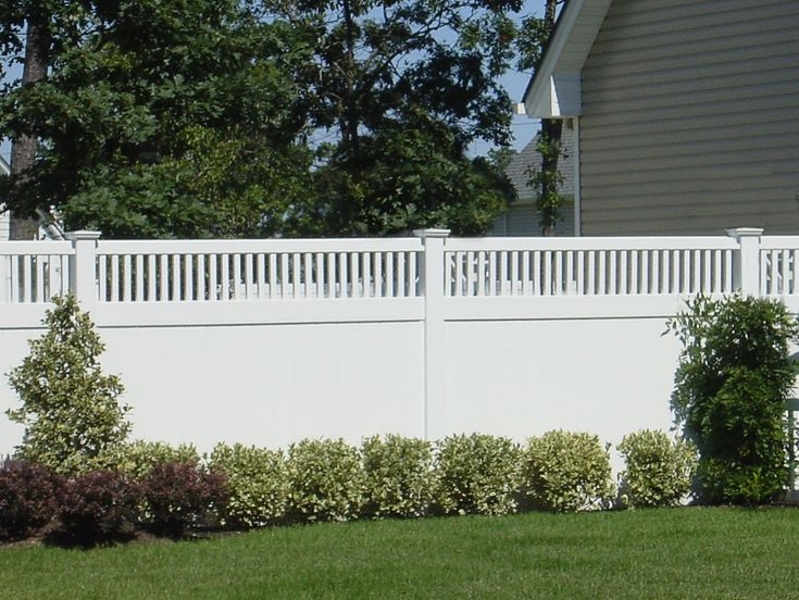 illusions pvc vinyl privacy fence panels in white