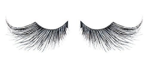 Zinkcolor Black & Silver Mix Fiber False Eyelashes E943 Costume Dance Halloween. made with synthetic hair. color: black and silver. thick volume with extreme length. 5 mm gradually lengthen to 3.5 cm. 1 pair of premium quality lash.
