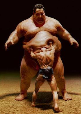★♥★ #Sumo wrestler ★♥★   #bizarre #weird #giant #monster
