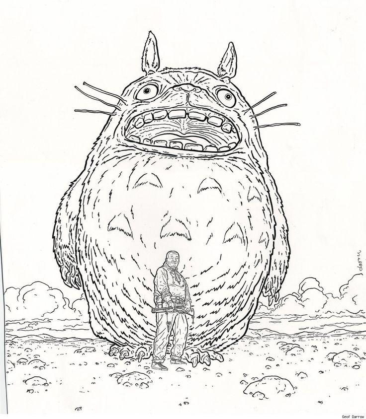 Totoro and Shaolin Cowboy by Geof Darrow