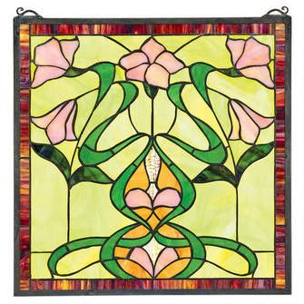 """Nouveau Lily"" Stained Glass Window"