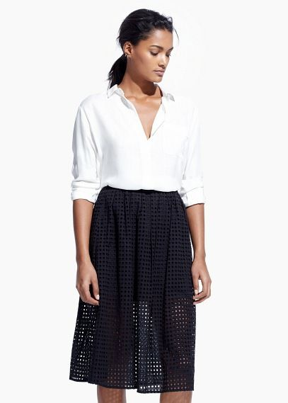 Camisa leve bolso - Camisas de Mulher | MANGO Outlet Portugal