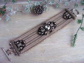 Beadwoven classic bracelet - Trinkets beaded jewelry