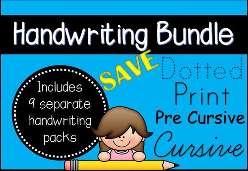 handwriting activity bundle dotted print pre cursive and cursive key stage 1 handwriting. Black Bedroom Furniture Sets. Home Design Ideas
