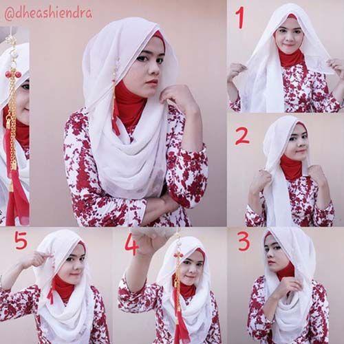 Simple Tutorial Hijab Segi Empat 2015
