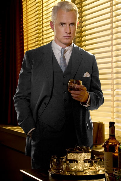 Roger, brilliantly played by John Slattery in Mad Men. My favourite character.